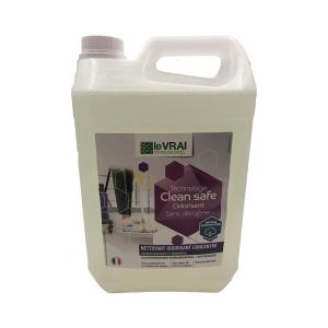 ENT-224-1 - NETTOYANT CLEAN SAFE Sans allergène Fleur de coton 5L